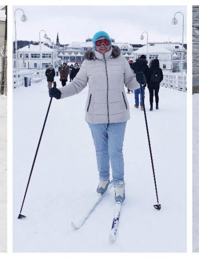 Bałwan w maseczce, narty na molo i morsowanie! Sopot przywitał zimę [FOTO]-7198