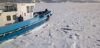 Ta fala kiedyś dotrze do Trójmiasta! Lodołamacze kruszą zator lodowy o długości około 7 km-7694