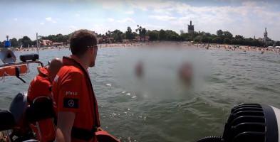 Od pomocy dziecku bez opieki po zatonięcie jachtu: pracowity weekend ratowników WOPR w Sopocie [WIDEO]-9245