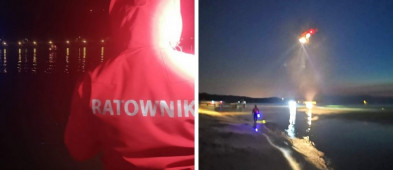 Sopot: nocne poszukiwania w Bałtyku. Do akcji wykorzystano śmigłowiec oraz kilka jednostek służb-9642