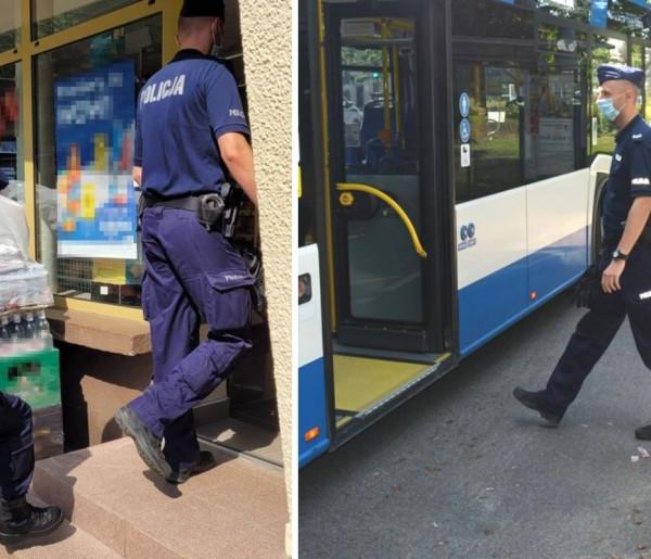 """Sopoccy policjanci przypominają o obostrzeniach! """"Mają one na celu ochronę zdrowia i życia""""-9700"""