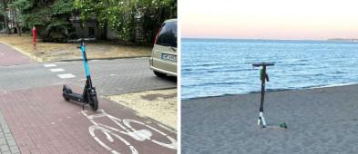 Kosztowne złe parkowanie hulajnogi! Weszła w życie sopocka uchwała umożliwiająca usuwanie urządzeń-9720