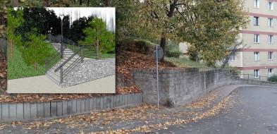 Sopot: Rusza budowa schodów przy Cmentarzu Komunalnym-10734