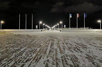 Piękny zimowy Sopot - śnieg przyprószył kurort 01.2020 [FOTO]-459