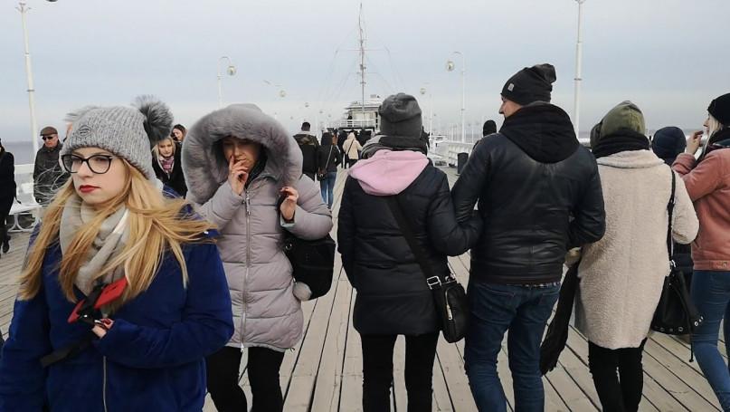 Molo w Sopocie spacer weekend luty 2019