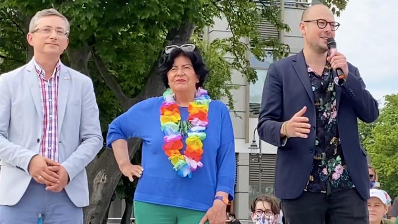 Demonstracja osób LGBT w Sopocie 21.06.2020