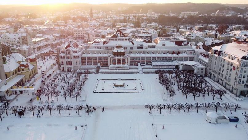 Zimowy zachód w Sopocie - ostatni dzień ferii 01.2021 [VIDEO]
