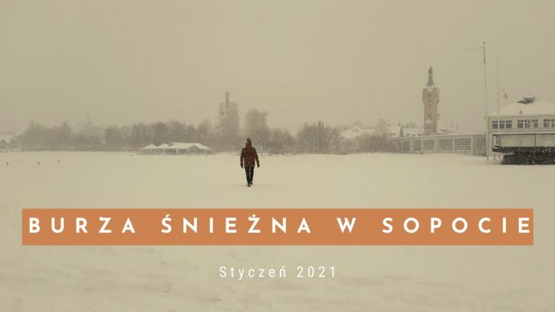 Śnieżyca w Sopocie 16.01.2021