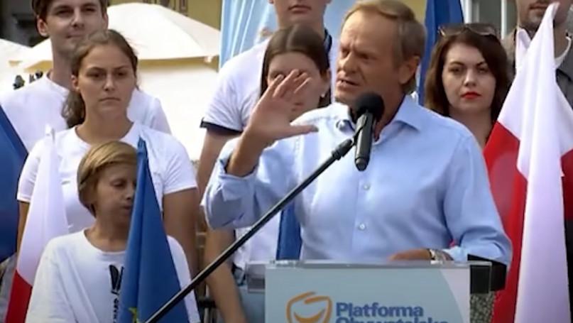 Donald Tusk na wiecu w Gdańsku